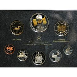 2005 Canada Double Dollar Proof Coin Set with Selective Gold Plating