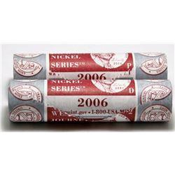 2 x 2006 US Westward Journey 5-Cent Mint Rolls