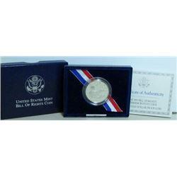 1993 USA Bill Of Rights Commemorative Silver 50-Cent Coin