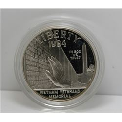 1994 USA Vietnam Veterans Memorial Silver $1 Dollar Coin - In Original Box