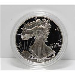 2000 USA Silver Proof 1 Oz Eagle - In Box