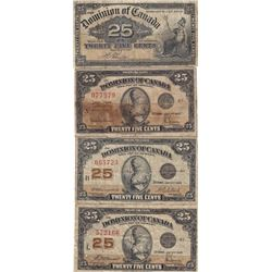 4 Canadian Shinplaster Dominion of Canada Notes