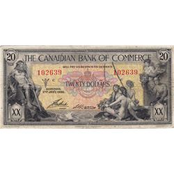 1935 Canadian Bank of Commerce $20 Bank Note - VF