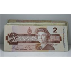 $100 In Small Denomination Canadian Bank Notes - 1954 - 1986