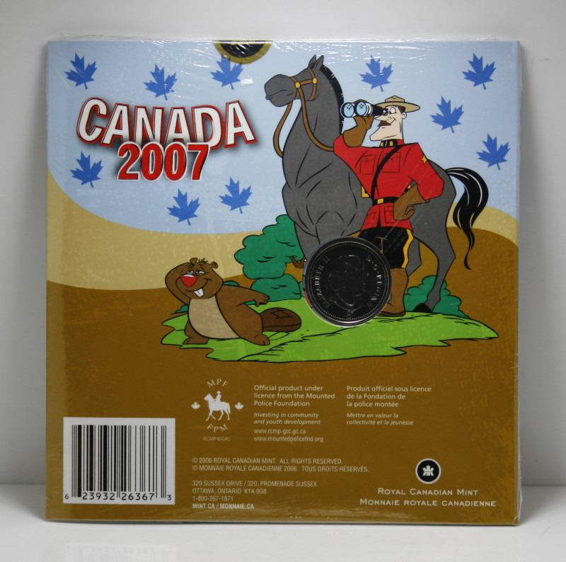 2007 Coloured Canada RCMP Quarter in Package