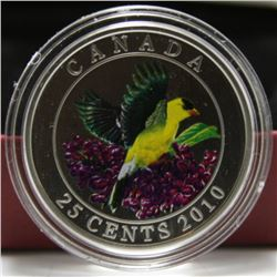 2010 Canada 25-Cent Coin - Birds of Canada Series - Goldfinch