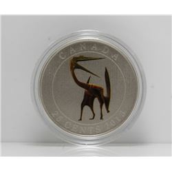 2013 Canada 25-Cent Prehistoric Coin - Quetzalcoatlus