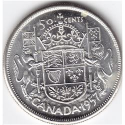 1957 Canada Silver 50-Cent Half Dollar Coin - MS-64