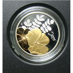2005 Canada 50-Cent Silver Coin - Golden Flower Series - Rose