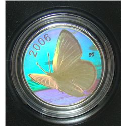 2006 Canada 50-Cent Silver Coin - Butterfly Collection - Silvery Blue