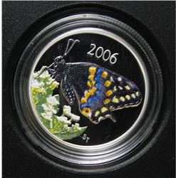 2006 Canada Sterling Silver 50-Cent  Coin - Short-tailed Swallowtail