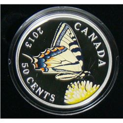 2013 Canada 50-Cent Large Butterfly Coin - Canadian Tiger Swallowtail