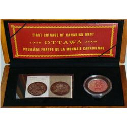 2008 Canada First Coinage of Canadian Mint Coin & Stamp Set