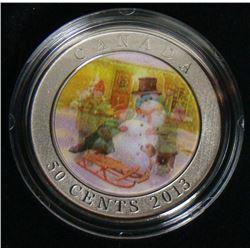 2013 Canada 50-Cent Coin - Lenticular Snowman