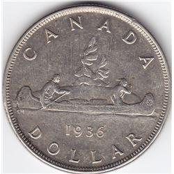 1936 Canada Silver $1 Dollar Coin - MS-63