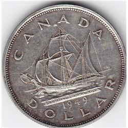 1949 Canada Silver $1 Dollar Coin - MS-63
