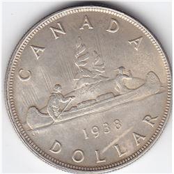 1938 Canada Silver $1 Dollar Coin - Ms-64 Condition