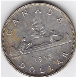 1952 Canada Silver $1 Dollar Coin - WL - MS-62