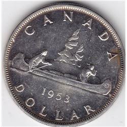 1953 Canada Silver $1 Dollar Coin - NSF - MS-63