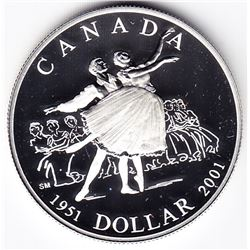 2001 Canada Proof Silver $1 Dollar Coin