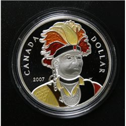 2007 Canada Limited Edition Proof Silver $1 Dollar with Enamel-Effect - Thayendangea