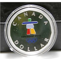 2010 Canada Sterling Silver Coloured Lucky Loonie - Vancouver Olympics