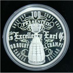 2012 Canada Limited Edition Silver $1 Dollar Coin - 100th Grey Cup