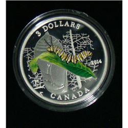 2014 Canada $3 Fine Silver Coin - Caterpillar & Chrysallis