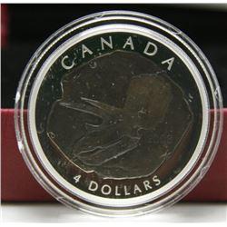 2008 Canada $4 Fine Silver Coin - Triceratops