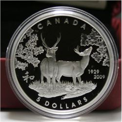 2009 Canada $5 Silver Coin - 80th Anniversary of Canada in Japan