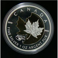 2013 Canada $5 Fine Silver - 25 Years of the Maple Leaf