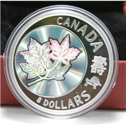 2007 Canada Fine Silver $8 Coin - Maple of Long Life