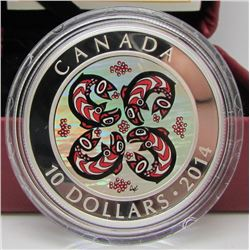 2014 Canada $10 Fine Silver Coin - First Nations Art: Salmon