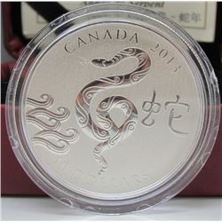 2013 Canada $10 Fine Silver Coin - Year of the Snake