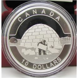 2014 Canada $10 Fine Silve Coin - The Igloo