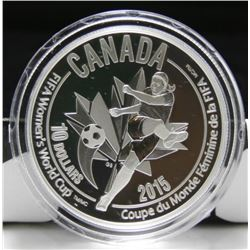 2015 Canada $10 Fine Silver Coin - FIFA - The Kicker
