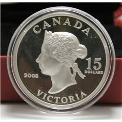 2008 Canada $15 Vignettes of Royalty Coin - Queen Victoria