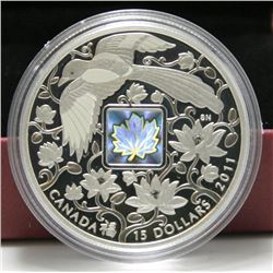 2011 Canada $15 Fine Silver Coin - Maple of Happiness