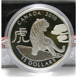 2010 Canada $15 Fine Silver Coin - Year of the Tiger