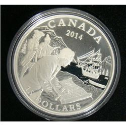 2014 Canada $15 Fine Silver Coin - West Coast Exploration