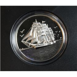 2005 Canada $20 Fine Silver Coin - Tall Ships - Three-Masted Ship