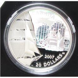 2007 Canada $20 Fine Silver Coin Brigantine