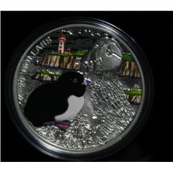 2014 Canadian $20 Fine Silver Coin and Stamp Set The Alantic Puffin
