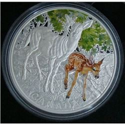 2015 Canada $20 Fine Silver Coin Baby Animals: White-Tailed Deer
