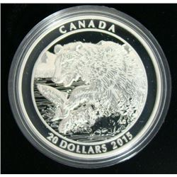 2015 Canada $20 Fine Silver Coin Grizzly Bear: The Catch