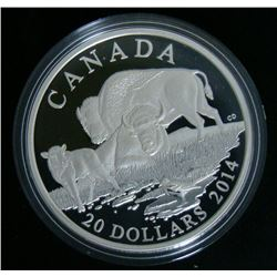 2014 Canada $20 Fine Silver Coin The Bison: A Family at Rest