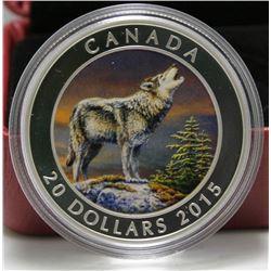 2015 Canada $20 Fine Silver Coin - Wolf