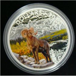 2015 Canada $20 Fine Silver Coin - Bighorn Sheep
