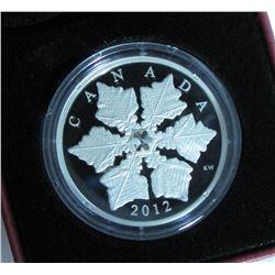 2012 Canada $20 Fine Silver Coin - Crystal Snowflake