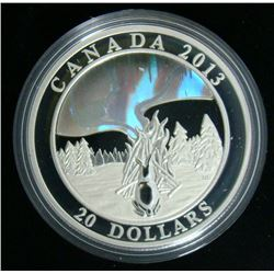 2013 Canada $20 Fine Silver Coin - Northern Lights: The Great Hare